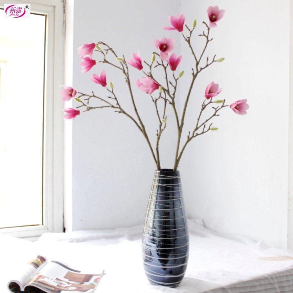 Good Quality Magnolia Spray Free Shipping Silk Artificial Flowers