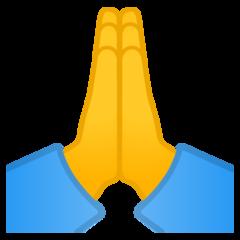 Person With Folded Hands Emoji Hand Emoji Praying Hands Emoji Folded Hands