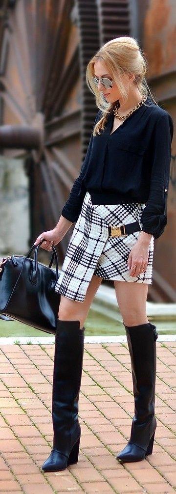 Black and white style ♥✤ | KeepSmiling | BeStayClassy
