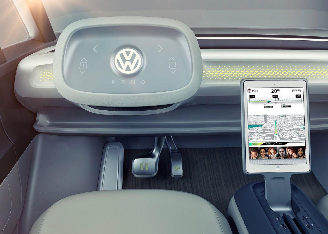 mode autonome concept car id buzz Volkswagen
