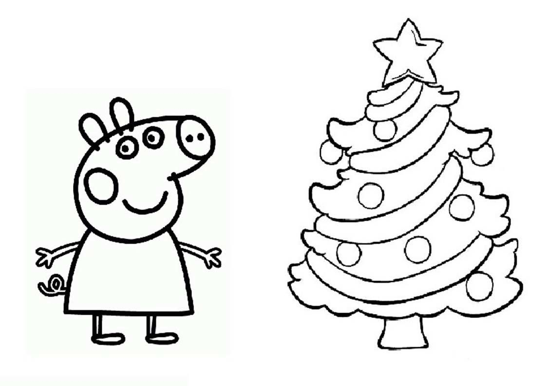 Peppa Pig Christmas Coloring Pages 4 Claire Marie