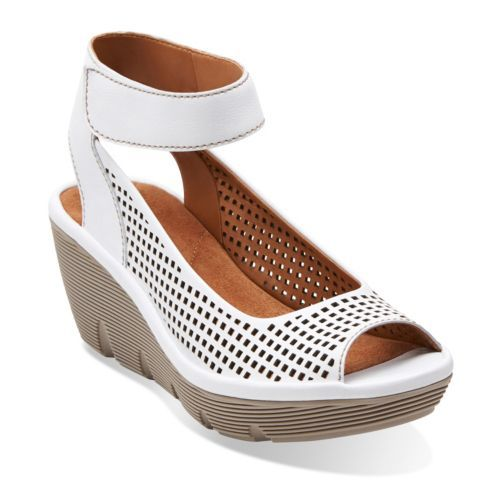 Clarene Prima White Leather - Wide Shoes for Women - Clarks® Shoes - Clarks