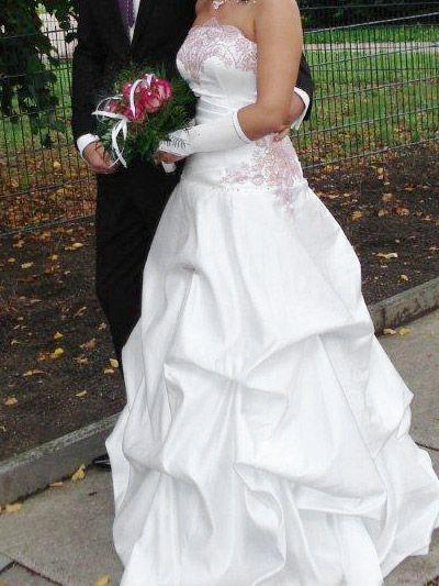 Weiß Rosa Brautkleid farbig | Brautkleider farbig | Pinterest ...