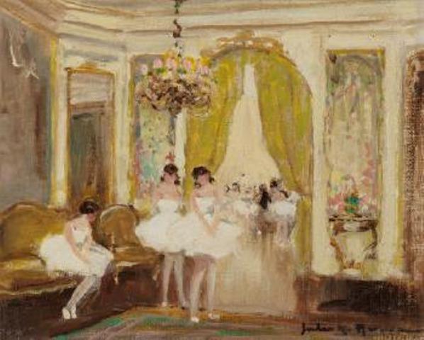 Jules-René Hervé - Ballerines dans le salon #2