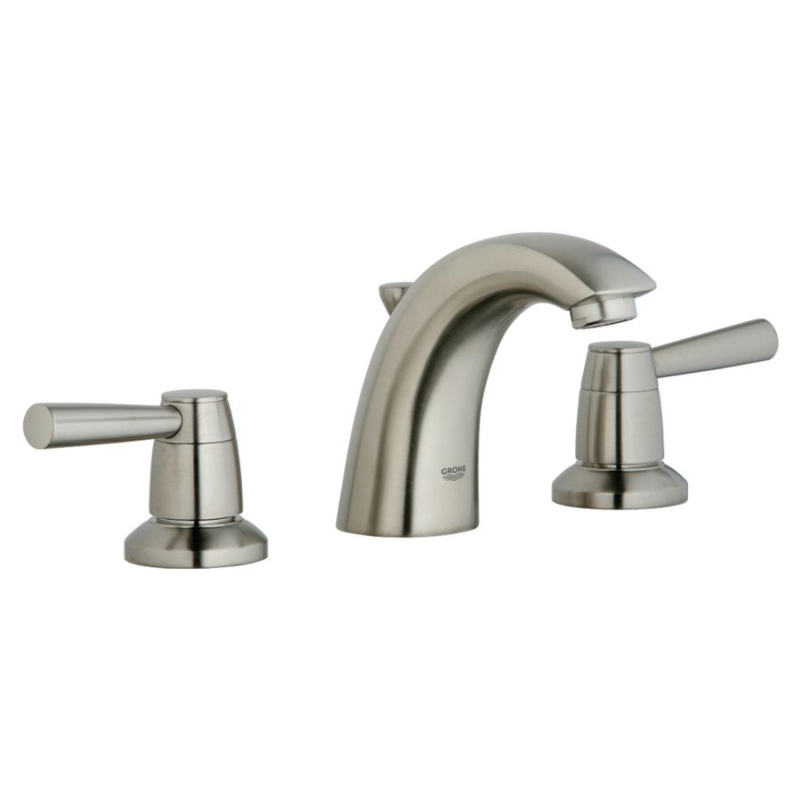 Grohe Arden Brushed Nickel 2-Handle Widespread Watersense Bathroom ...