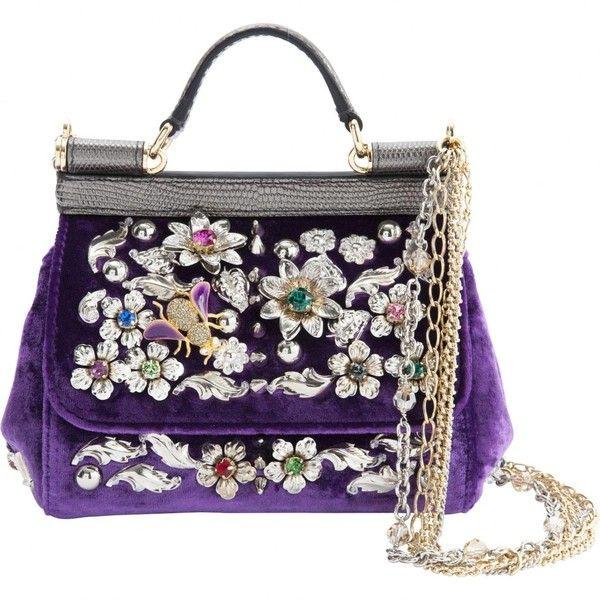 193658c3c304 Pre-owned Dolce   Gabbana Sicily Velvet Handbag ( 2