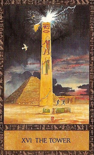 XVI. The Tower - Ancient Egyptian Tarot by Clive Barrett