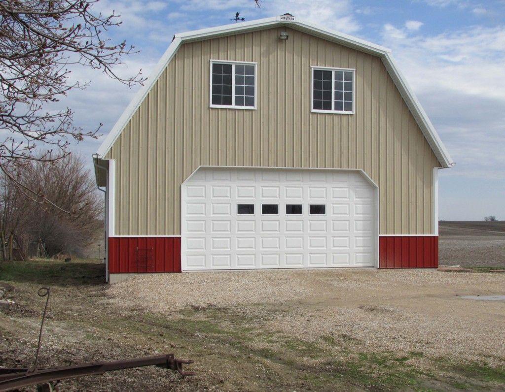 Garage & hobby shed by Greiner Buildings www greinerbuildings com