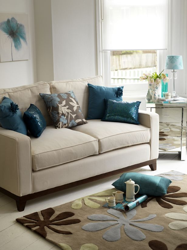 Teal Decorating Ideas For Living Room   Teal living rooms ...