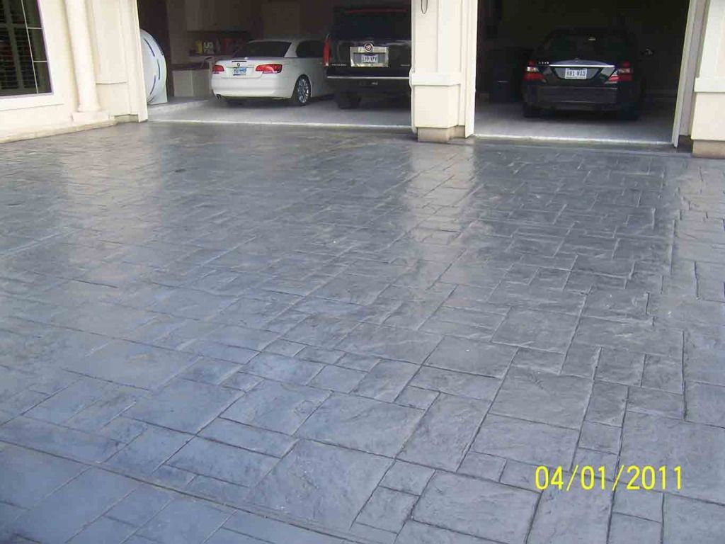 Small Concrete Ashlar Slate By Increte Of Houston Stamped Concrete Concrete Decor Concrete