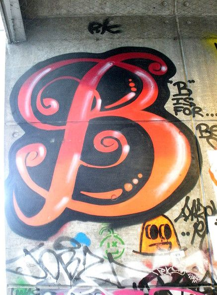 New Graffiti B In Letters 5 Style Alphabet