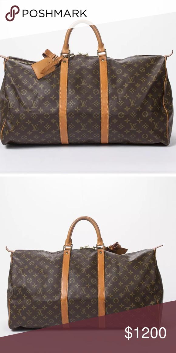 Louis Vuitton 55 carryall duffle bag. 100 authentic Louis