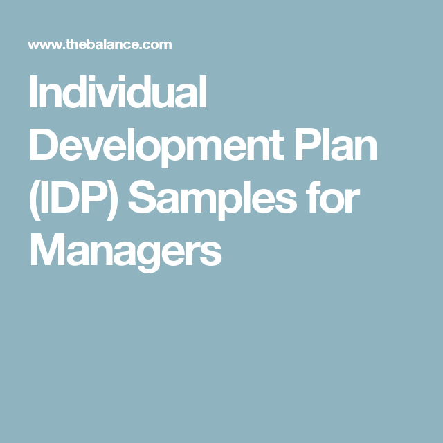Here Are Individual Development Plan Idp Samples For