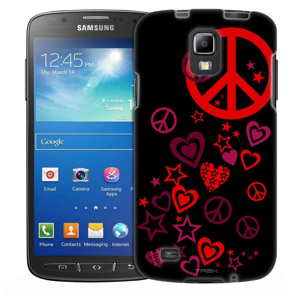 Samsung Galaxy S4 Active Red Lighting on White Slim Case