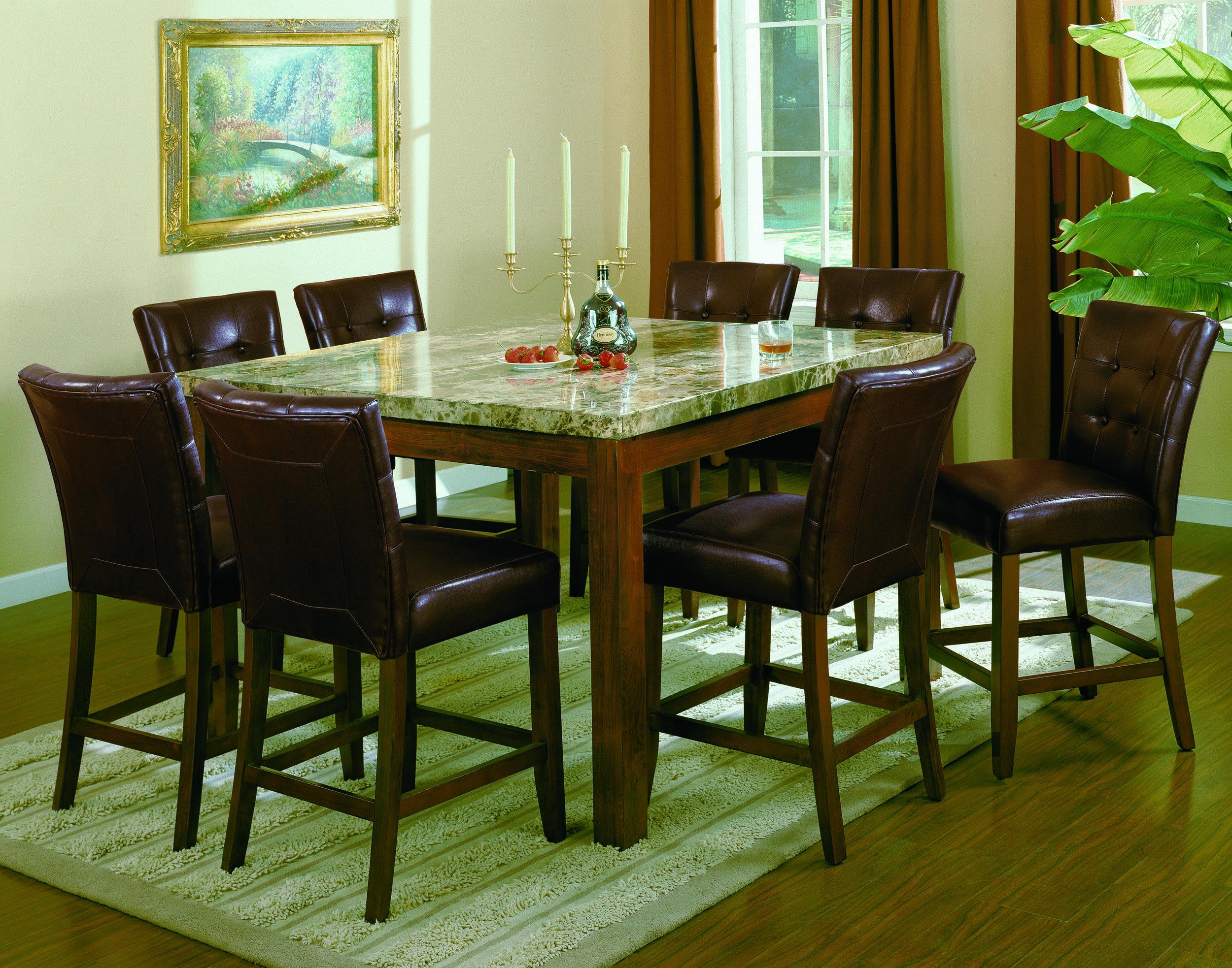 Designer Dining room furniture set- Crown Mark Bruce 2767 Marble Top ...