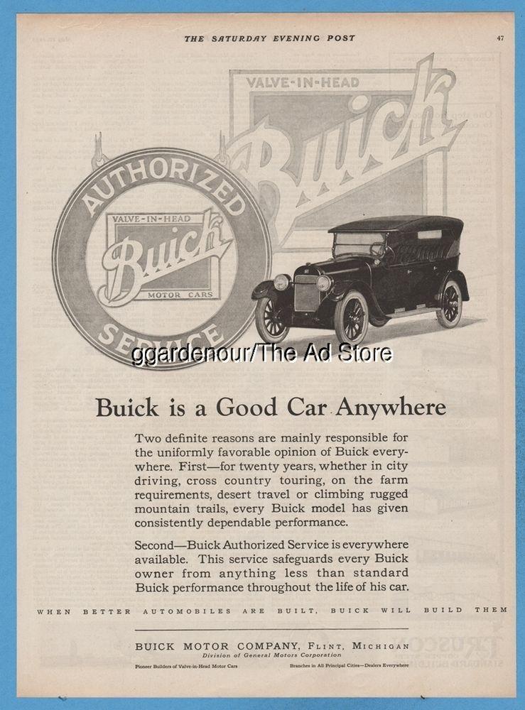 1923 Buick Motor Car Co SERVICE Flint MI antique Open Sedan General ...