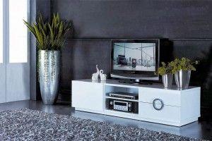60 Contoh Desain Rak Tv Warna Putih Paling Bagus