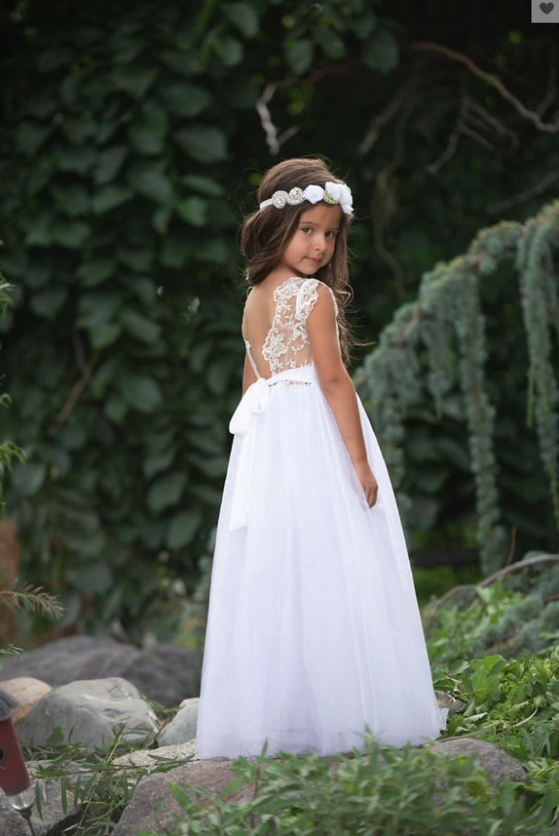 Bohemian flower girl dress flower girl dresses girls lace