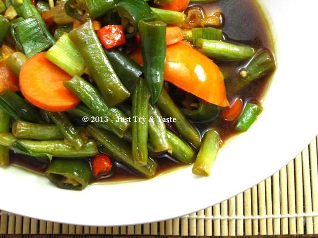 Asem Asem Buncis A La My Mom Lauk Sayuran Resep Makanan Makanan