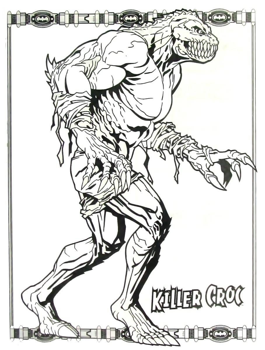Batman Killer Croc coloring book page printable | Batman Coloring ...