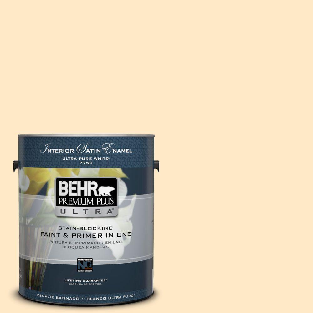 BEHR Premium Plus Ultra 1-gal. #P250-1 Papaya Sorbet Satin Enamel Interior Paint