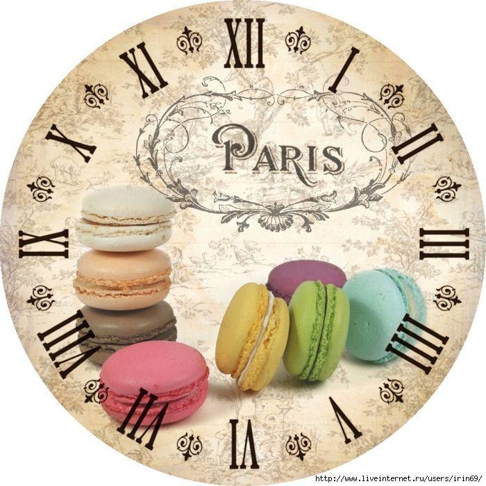 Resultado de imagen para imagenes decoupague reloj torta - Reloj pared vintage ...