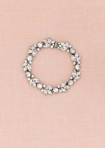 Floral Crystal Bracelet Bridal jewelry Renting and Crystals