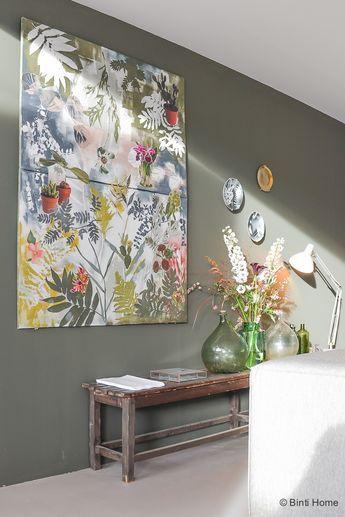 Vtwonen huis woonkamer inspiratie groene muur ©BintiHome | Thuis ...