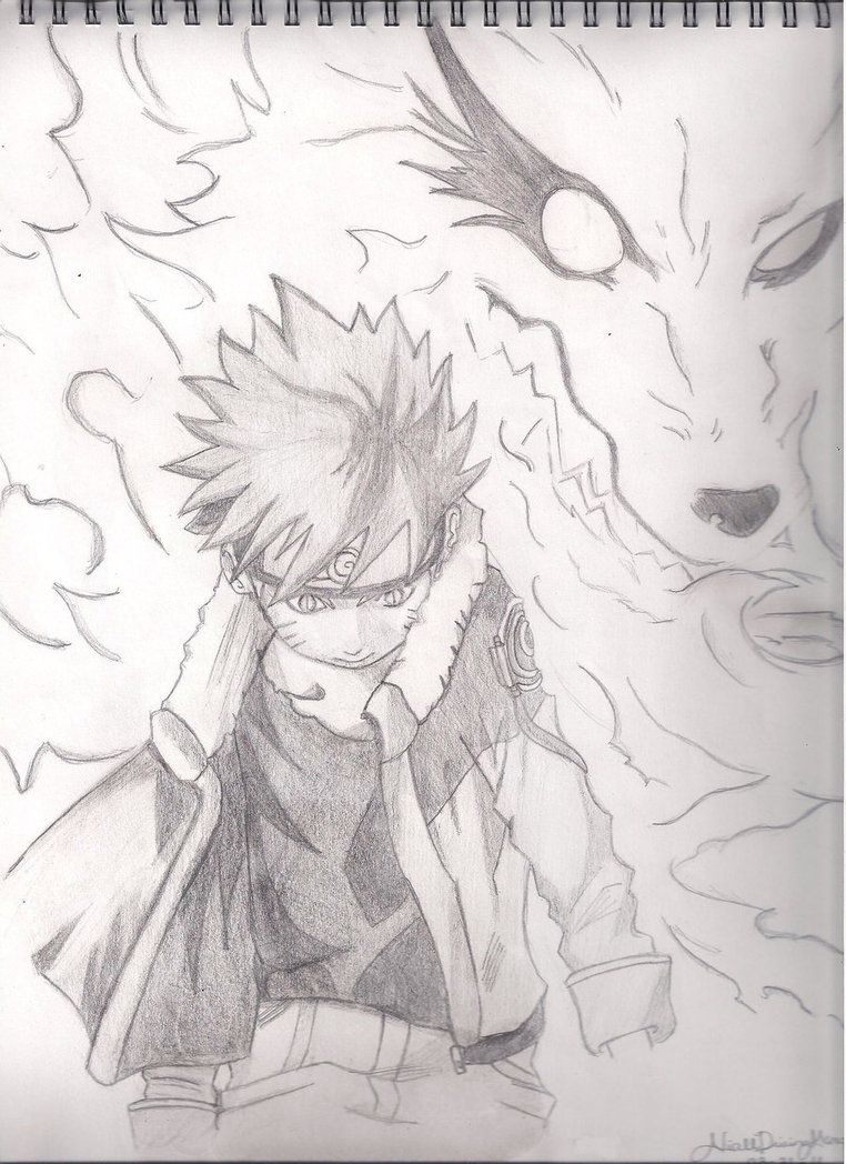 Nine Tailed Fox Naruto By Crimsonbutterfly27 With Images