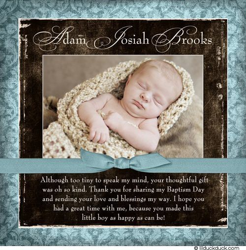 Christening Thank You Verse Wording Ideas For Baptism Cards Photo