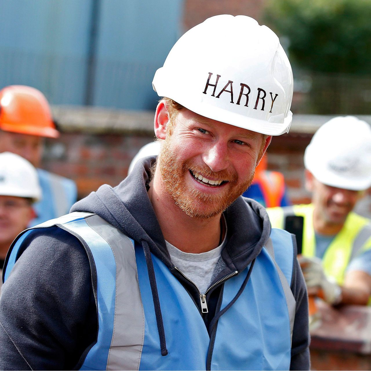 The Duke of Cambridge and Prince Harry visit the BBC's DIY