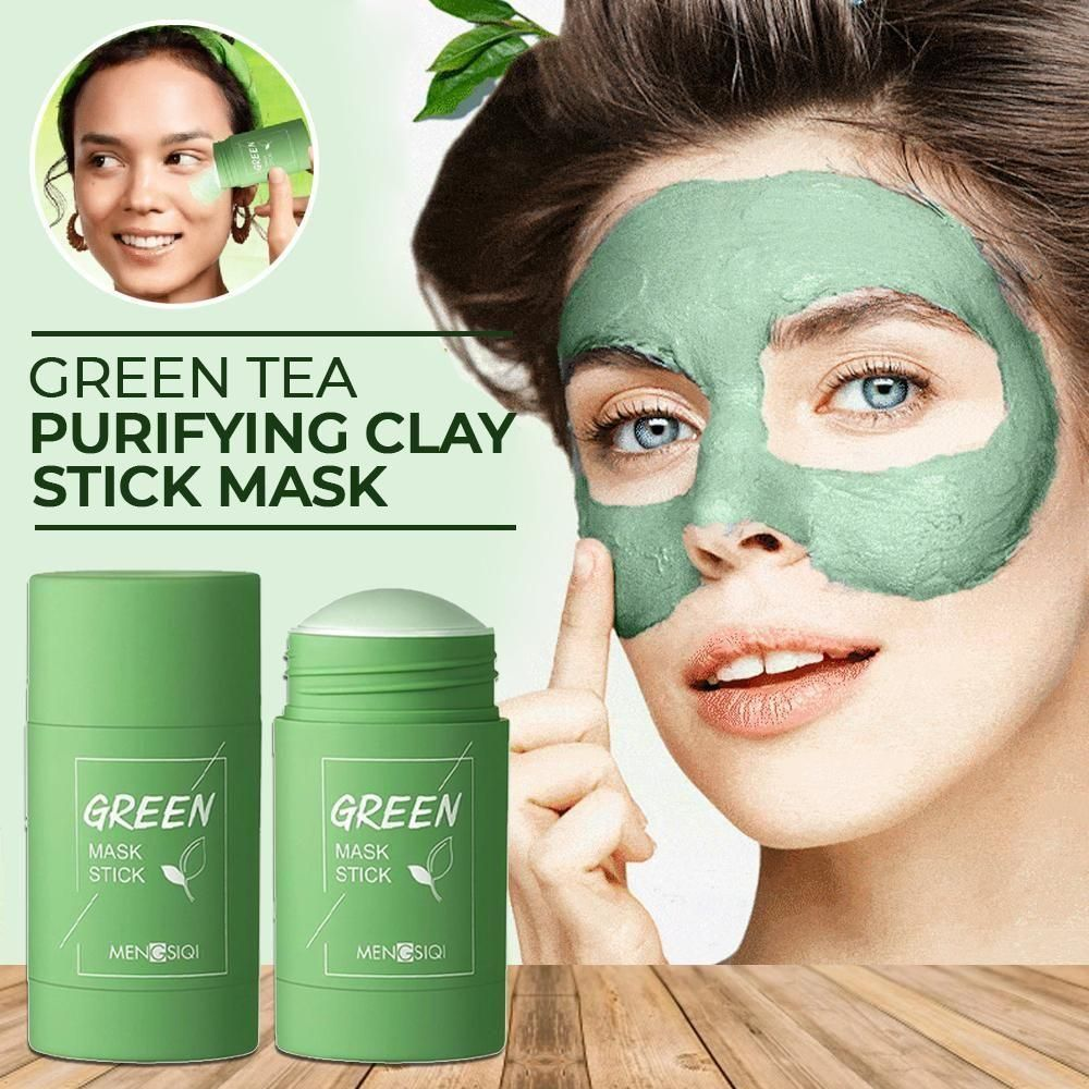 Cleansing Facial Mask Stick For All Skin Types (Women & Men) 50% Off Today Only OIL-CONTROL CLEANSING MASK (GREEN)-1 PC