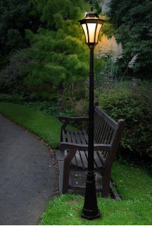 Essex Solar Powered Lamp Post Light With 19 Leds Solar Lights Garden Landscape Lighting Design Outdoor Lamp Posts
