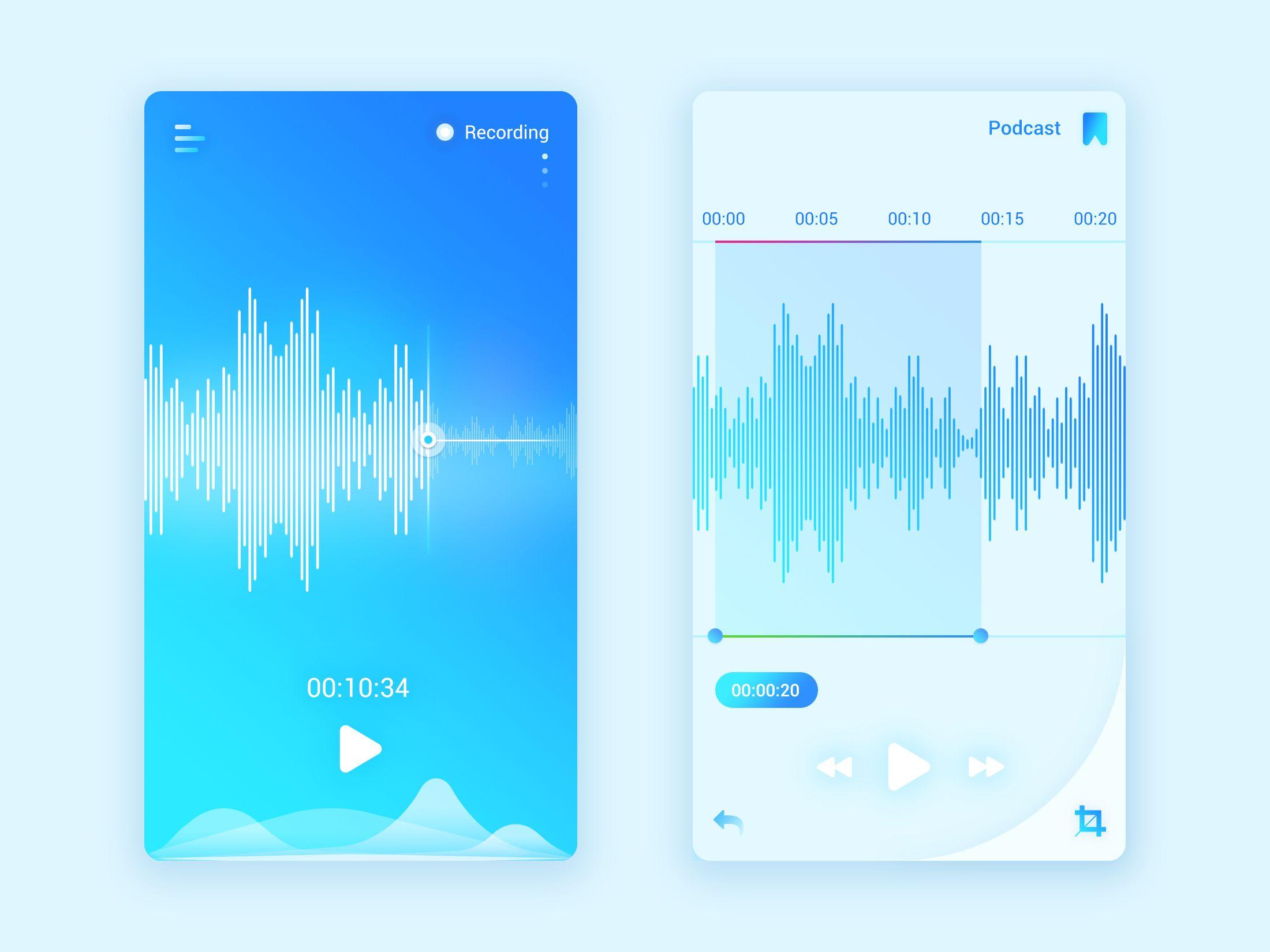Voice memos full screen app
