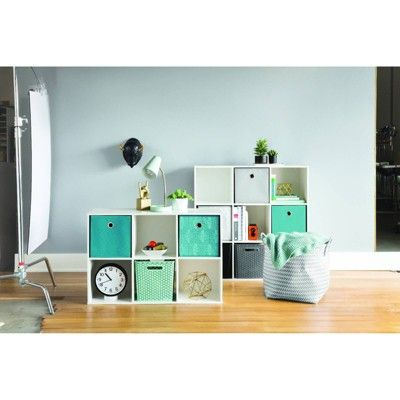 11 Fabric Cube Storage Bin Teal Room Essentials Tea Line Cube Storage Bins Cube Storage Room Essentials