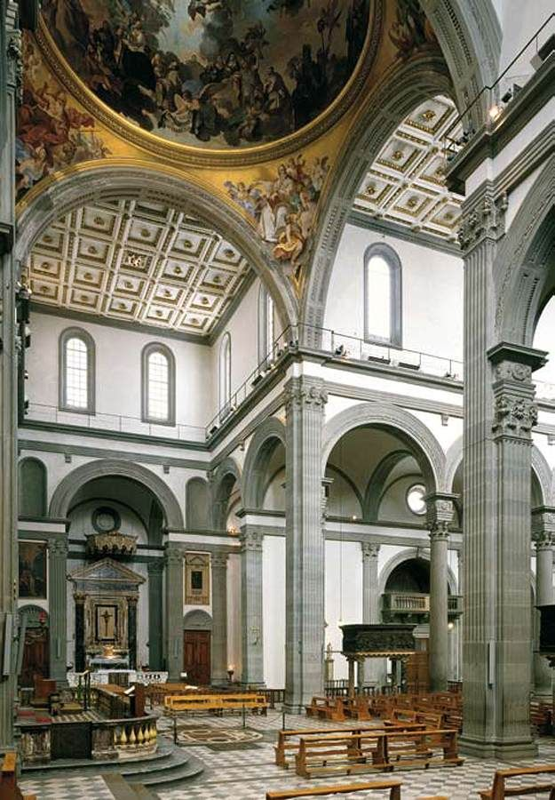 View of the Central Nave (begun 1419) | San Lorenzo ...