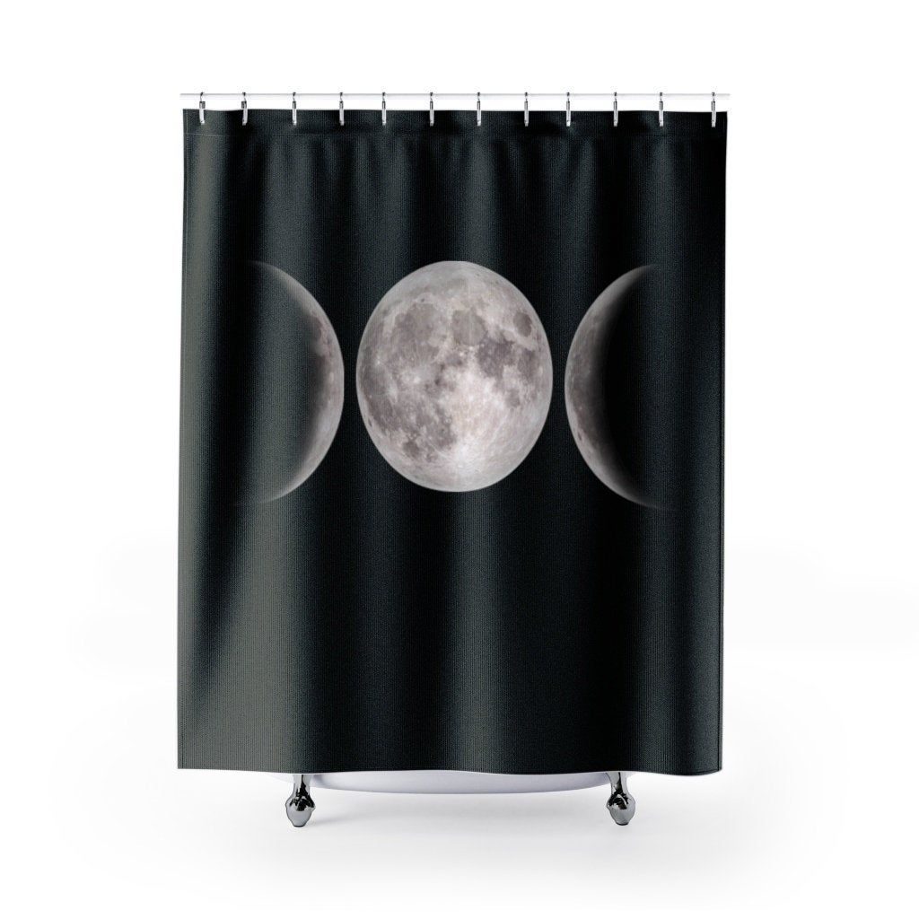 Moon Phases Shower Curtain Wicca Triple Goddess Shower Curtains