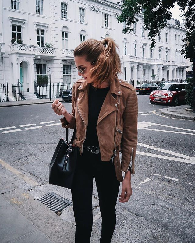 reputable site ae6de ee4bd pinterest; leilanigxo | winter | Wildlederjacke, Braunes ...