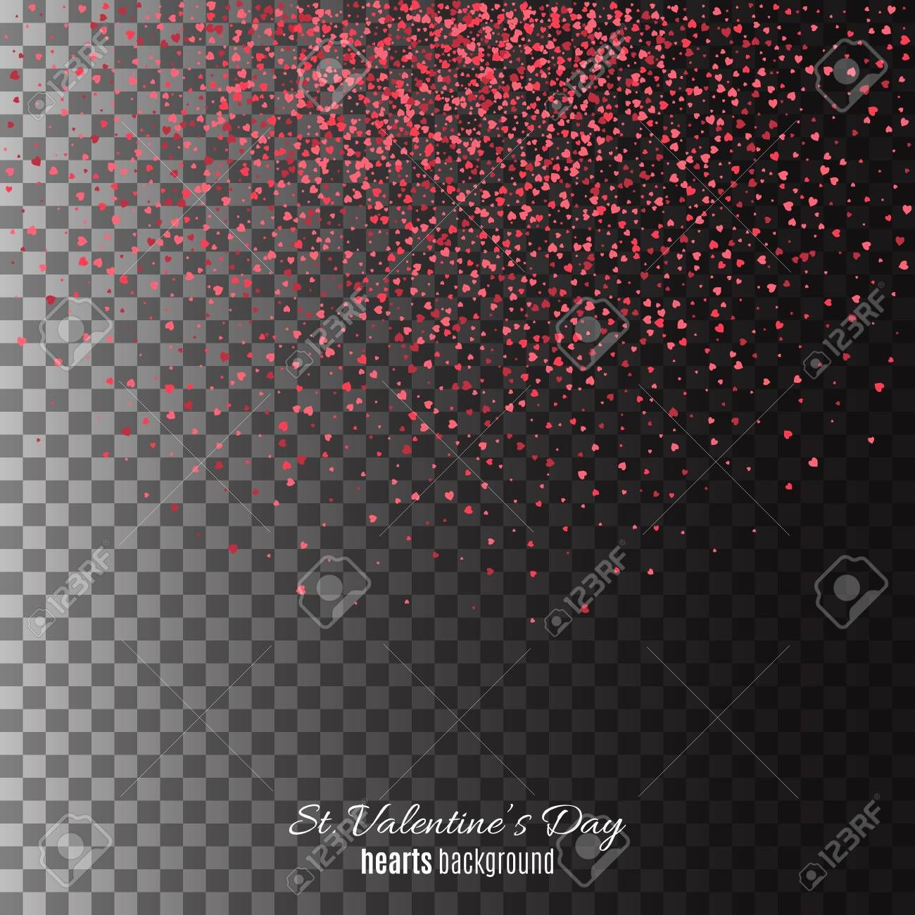 Hearts dust abstract St Valentines Day background Illustration