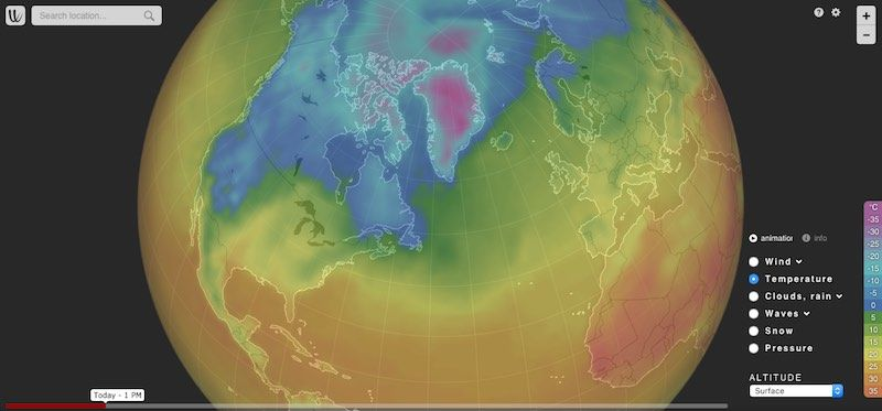ubercool wind animation all over the world wind and weather forecast for kiters surfers pilots and anyone else