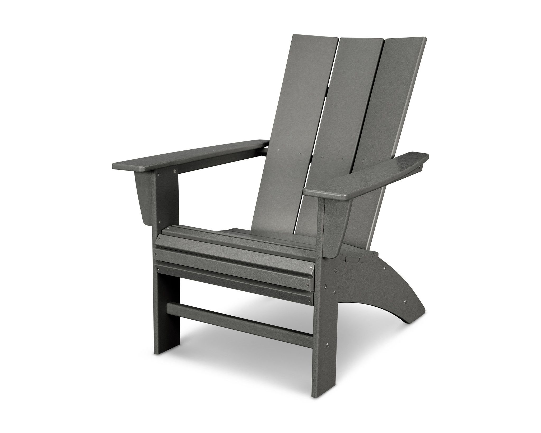 Take a moment to relax in the modern curveback adirondack chair a spacious chair featuring curved back slats and waterfall front for added comfort