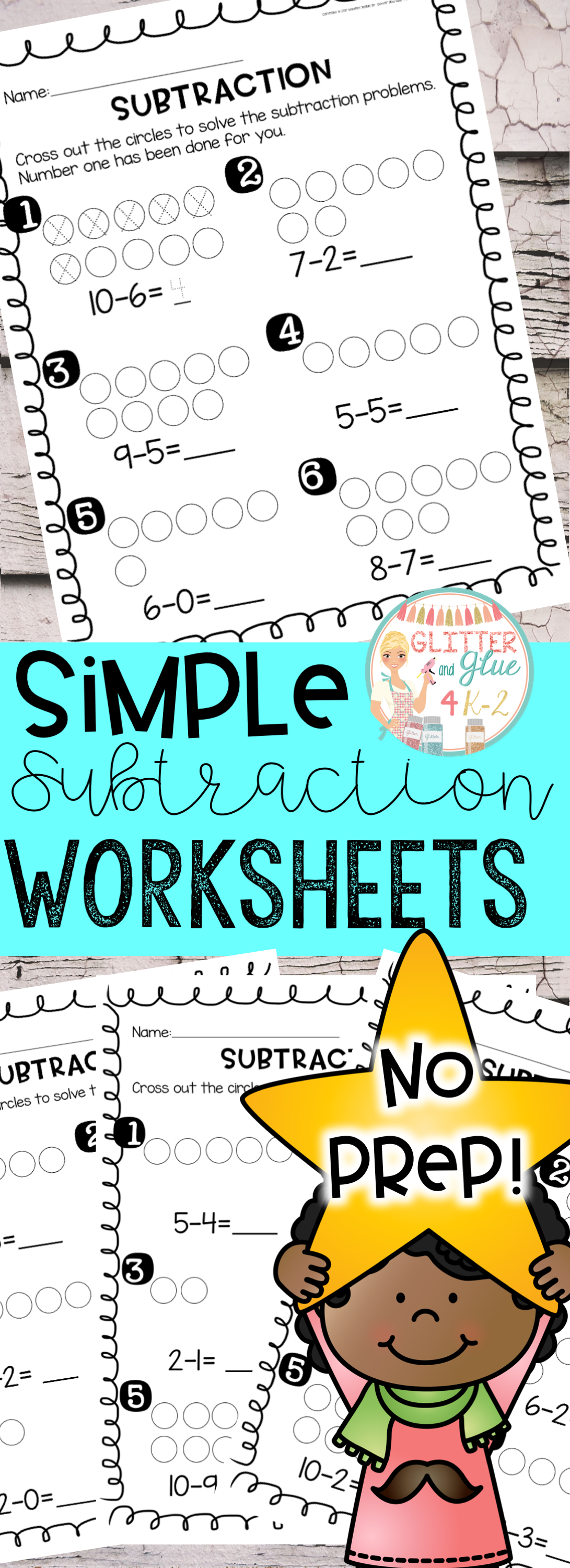 Simple Subtraction Worksheets An Introduction To