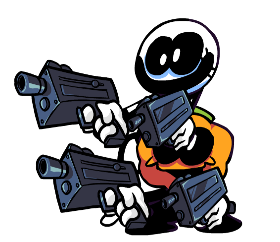 Skid And Pump With Guns In 2021 A Hat In Time Funkin Friday Night