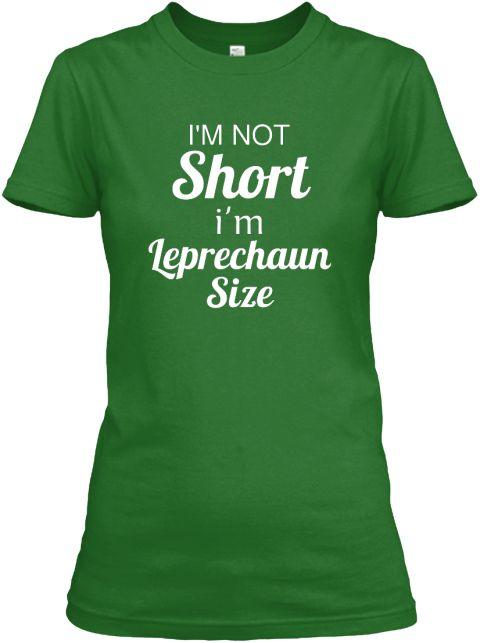 60984c1ec I'm Not Short I'm Leprechaun Size Irish Green Women's T-Shirt Shamrocks  IRISH Tank top Shamrock St Patricks Day ireland irish t-shirt saint patrick  tank top ...