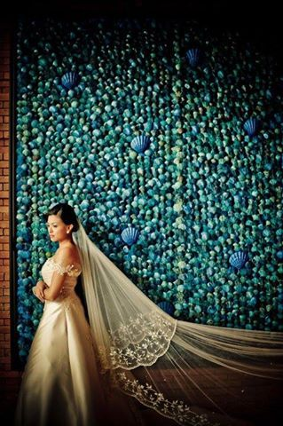 Hand Embroidered Long Bridal Veil