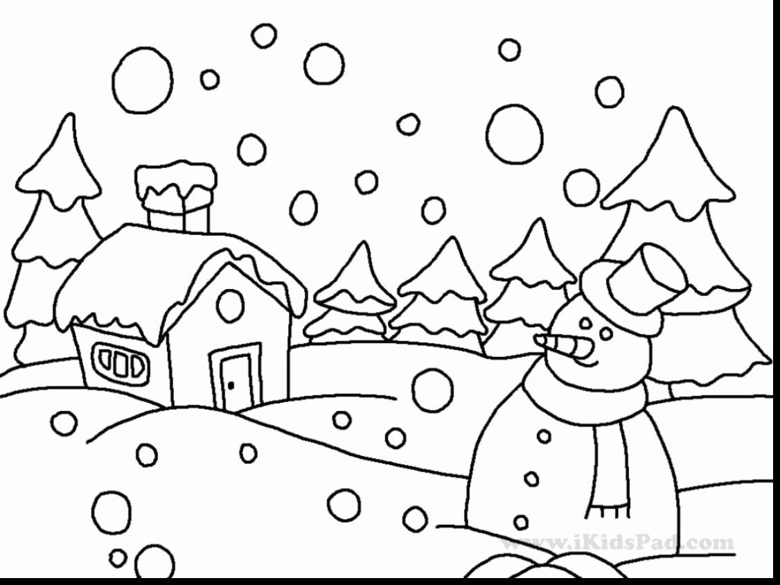 Snow Scene Coloring Pages Lovely Coloring Coloring Page Pages