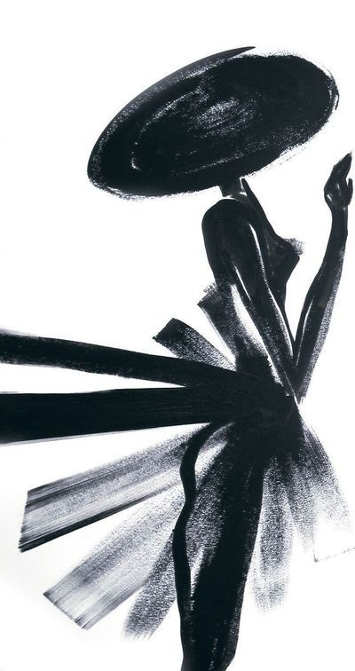 """""""La Petite robe noire"""" de Guerlain habille les Champs-Élysées - Beautiful, a reminder that all works of art and all clothing starts with one single stroke, one fllck of a brush"""