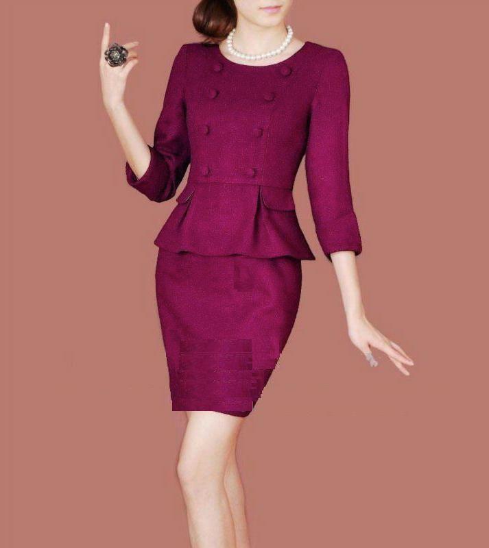 b851e434a Elegantes conjuntos de dos piezas | Plumper | Traje de falda, Trajes ...