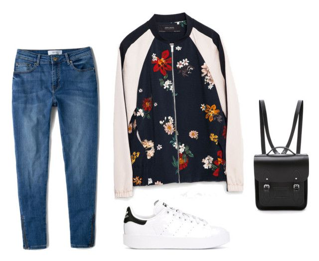 """Untitled #6"" by lauren3552 ❤ liked on Polyvore featuring Zara, MANGO, adidas Originals and The Cambridge Satchel Company"