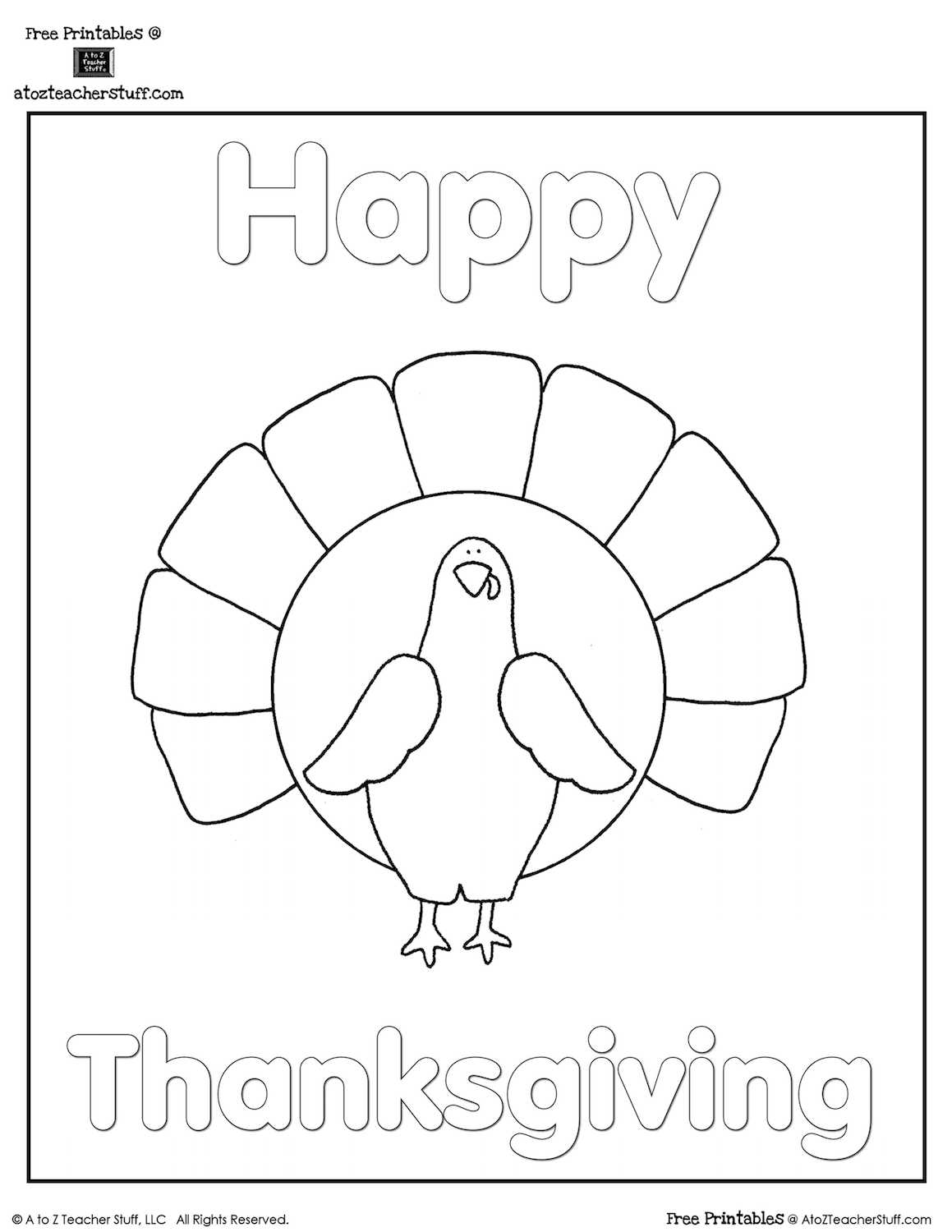 165+ FREE Thanksgiving Coloring Pages and printable activity sheets ...